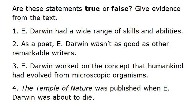 darwin questions