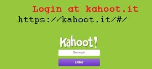 kahoot it log in