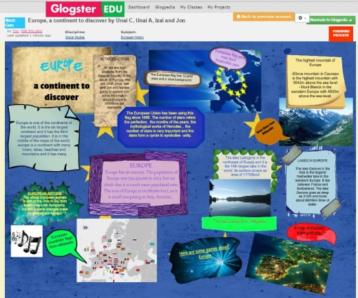 A continent to discover glogster