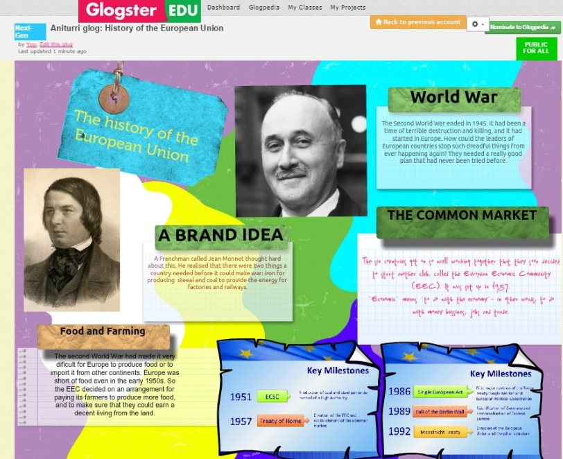 History of the EU glogster